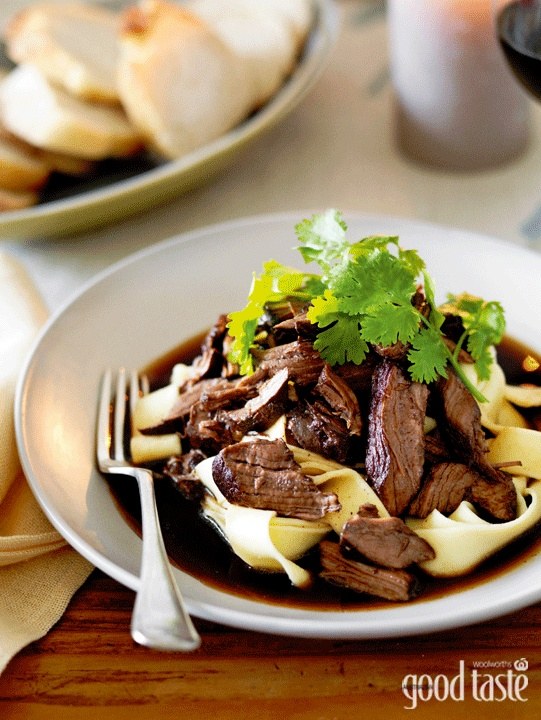 Let the oven do most of the work in creating this juicy, tender beef sauce for pasta ~ recipe Jane Hann ~ pic Rob Palmer/NewsLifeMedia