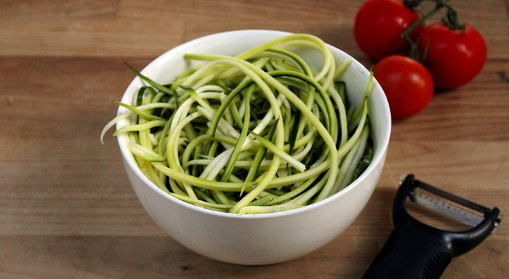 Courgette spaghetti has been a revelation to me. It is a fantastic food for diet days. You just shred a courgette with a peeler, quickly fry and then serve in a sauce of your choice. It's quicker t...