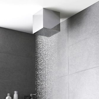 Add Designer Style To Your Bathroom With This Ceiling Mounted Shower Head