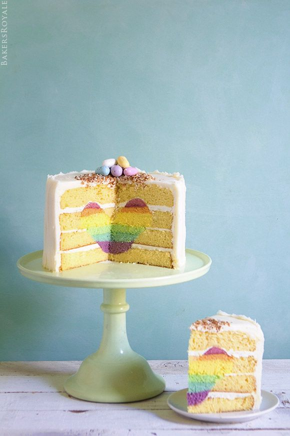 Surprise-Inside Cake with a Rainbow Heart