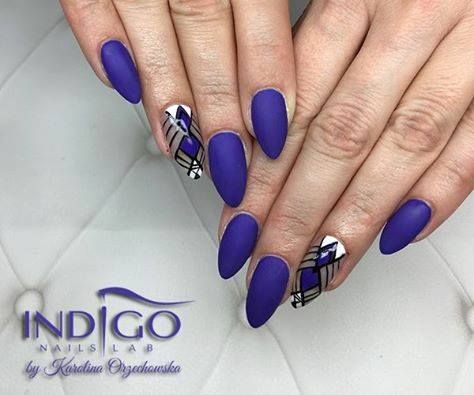 Colour Gel no 90 + Matt Gel by Love'n'Nails, Indigo Gdańsk #nails #nail #violet #indigo #winter #wow #nailart