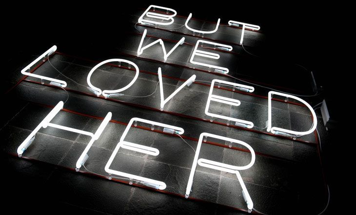 BUT WE LOVED HER – the title of Ursula Mayer's exhibition was taken from a picture in the April 17, 2013 issue of the British daily paper The Independent, the day Margaret Thatcher was interred.