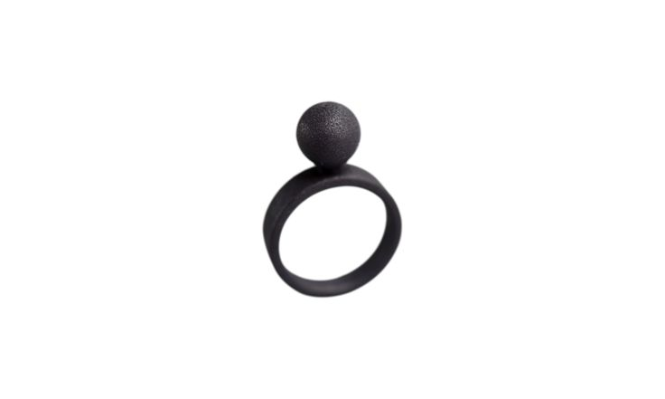 3D printed ring.A very light black ring!   www.scicche.itwww