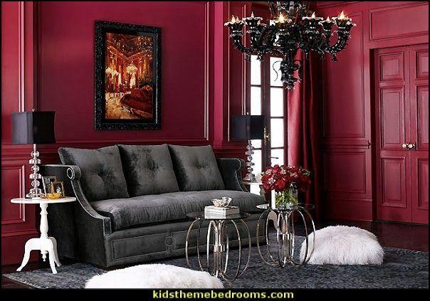 Modern Style Boudoir Moulin Rouge Style Decorating Ideas