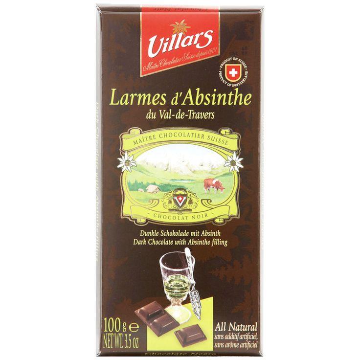Villars Larmes d'Absinthe Dark Chocolate Bar