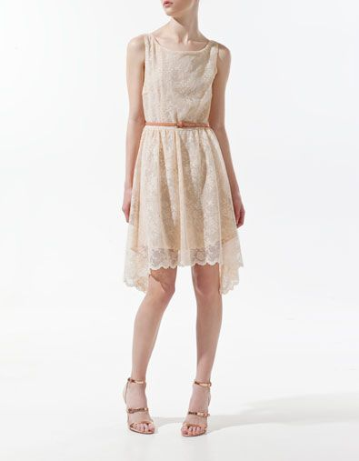 DRESS WITH LACE V AT THE FRONT: Summer Dresses, Back Dresses, Bridesmaid Dresses, Easter Dresses, Lace Overlays, Love Lace, Outfits Ideas, Lace Dresses, Zara Dresses