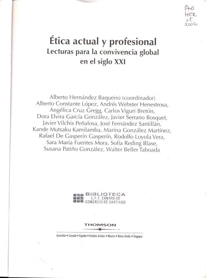 #eticaactualyprofesional