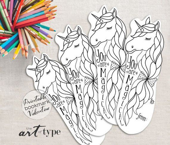 Unicorn Stocking Stuffer Party Favor Printable Coloring Page