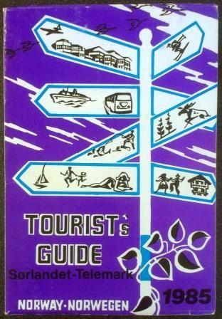 Tourist's guide Sørlandet - Telemark 1985 - brukt bok