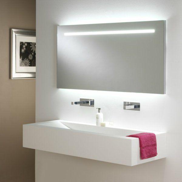Die besten 25+ Badezimmerspiegel beleuchtet Ideen auf Pinterest - led leuchten f r badezimmer