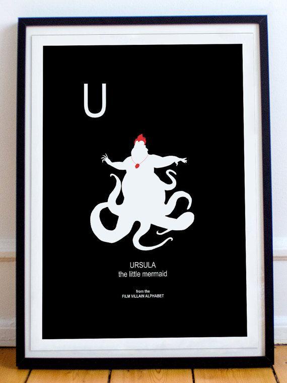 Little Mermaid Ursula Disney U is for Ursula from by thefilmfreak