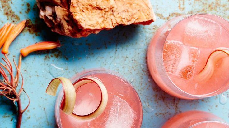 Rhubarb-Fennel Gin Cocktail Recipe | Bon Appetit
