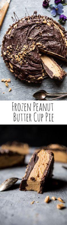 Frozen Peanut Butter Cup Pie   halfbakedharvest.com @hbharvest