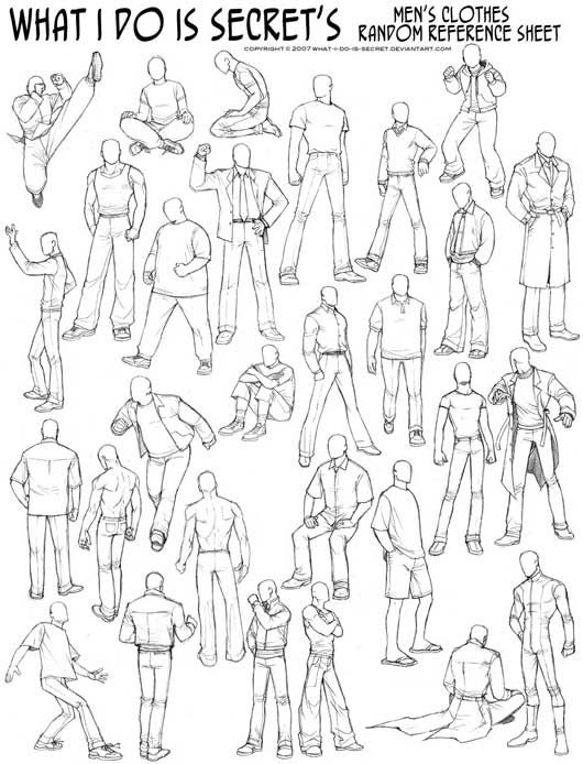 How to Draw - Study: Men's Clothing with Wrinkles and Folds for Comic / Manga Panel Design Reference