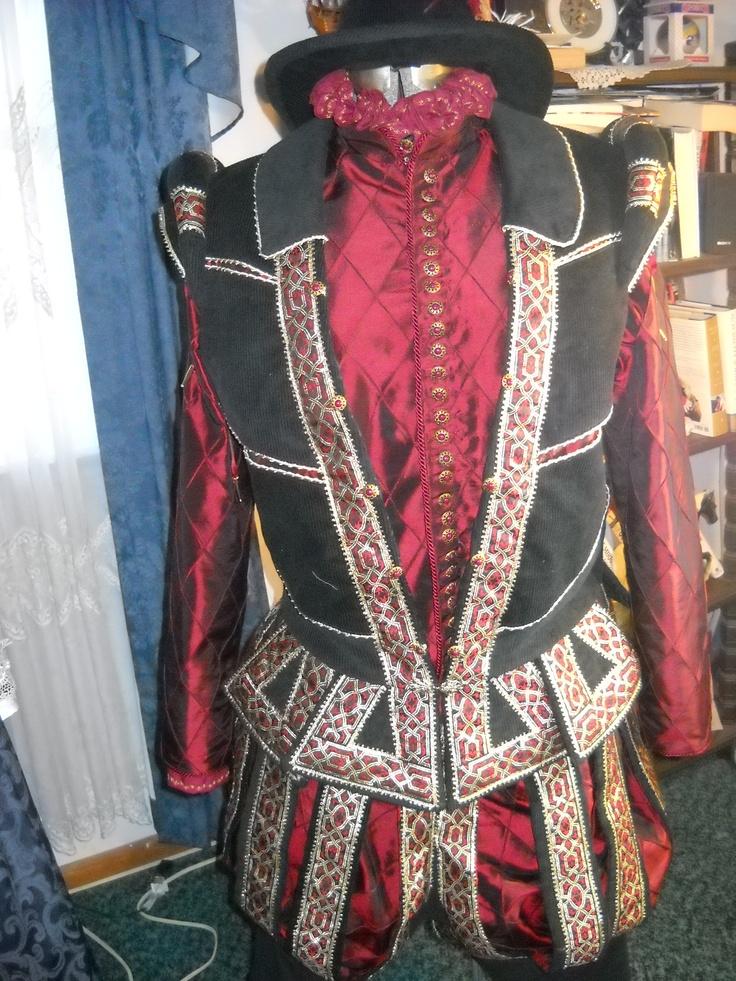 Custom Designed Elizabethan Mens ensemble. Doublet ...