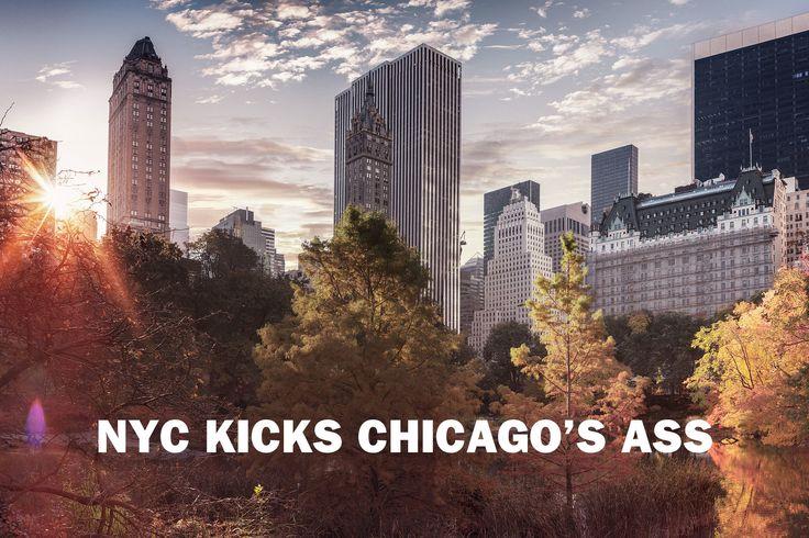 33 reasons New York kicks Chicago's ass