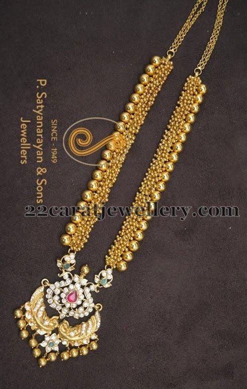 Jewellery Designs: Gold Haram by Satyanarayana Jewellers.