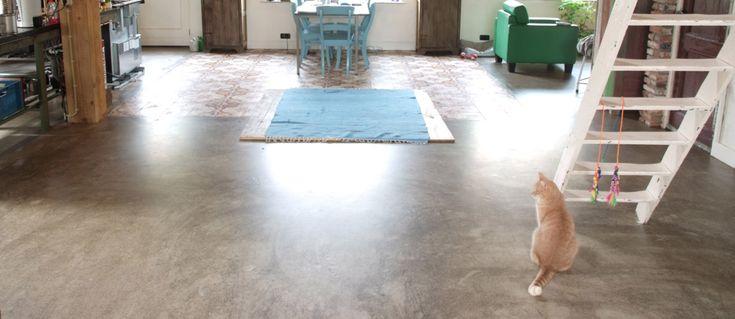 Gietvloer & betonlook vloer: gietvloeren met industriële look