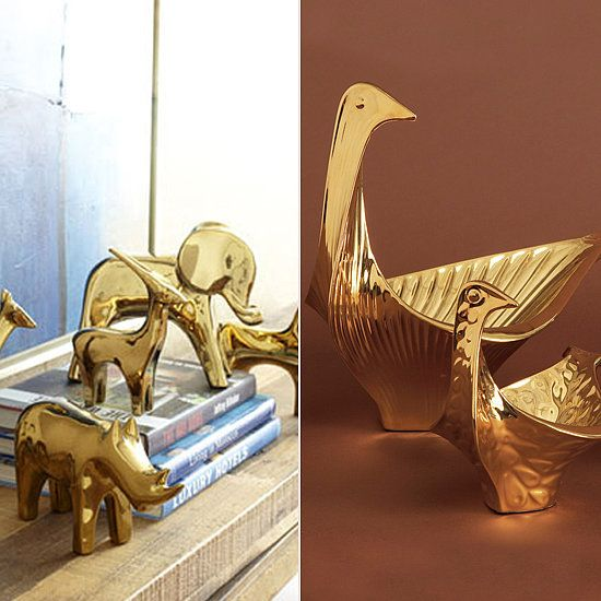 First-Apartment Decorating Essentials: Splurge + save brass figurines
