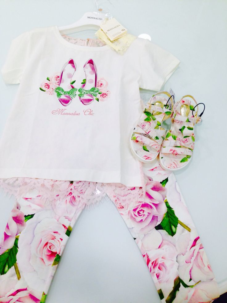 Monnalisa   Spring-Summer Collection   Girl #Monnalisa #spring #summer #kids' #fashion #girl #pink #flower #cutiepie #so #much #love #white #tshirt #shoes #dress #skirt #carryonjunior