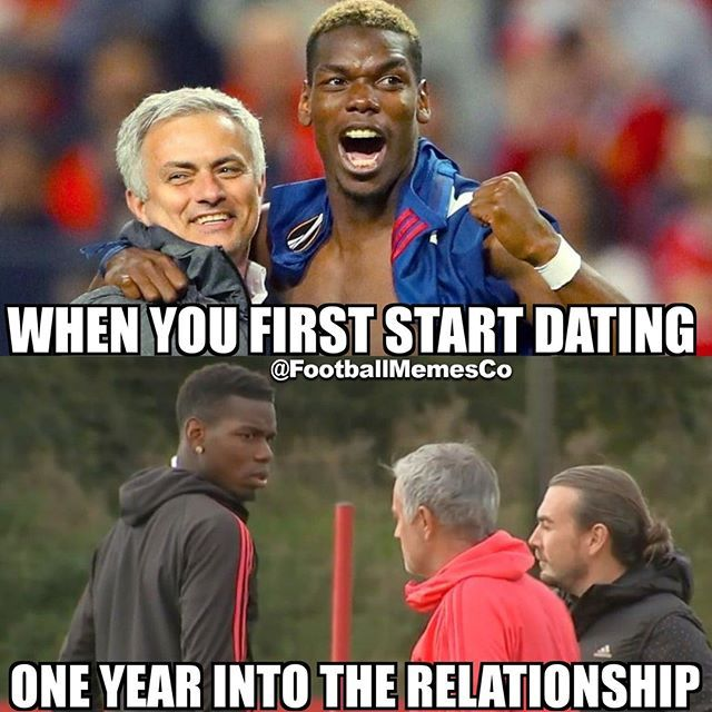 Mourinho And Pogba Football Memes Funny Soccer Memes