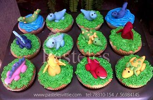 Dinosaur cupcakes for your kids!