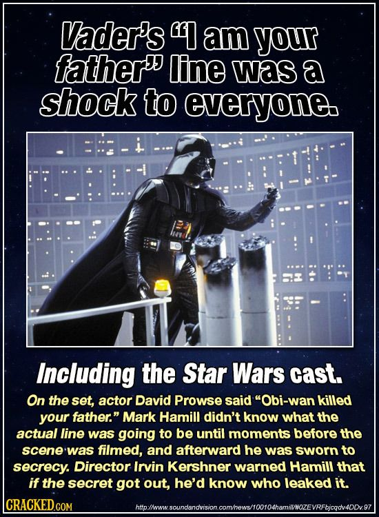 27 mind blowing true star wars behind the scenes stories for Interesting facts about crack