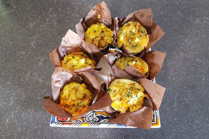 Hartige muffins (Groente Muffins)