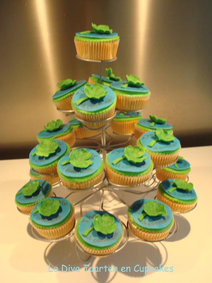 Klavertje 4 communie cupcakes