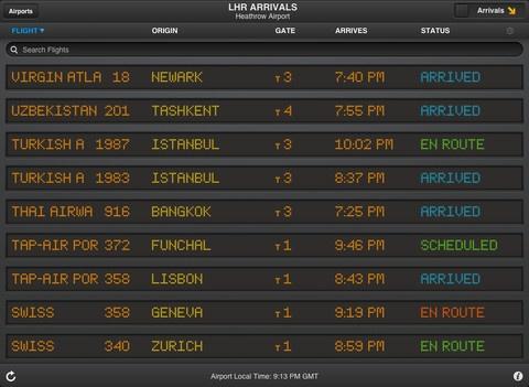 flight status app iphone