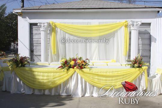 Tema bella y la bestia colores amarillo rosa blush y - Decoracion fiesta jardin ...