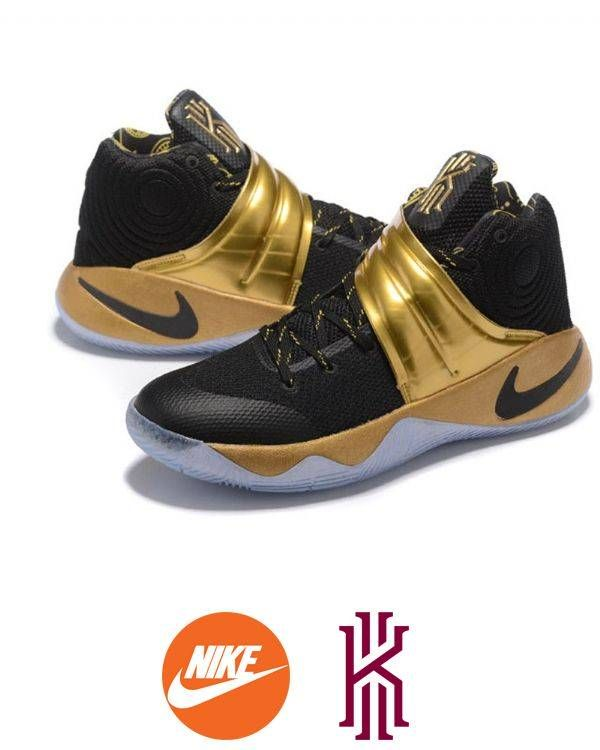 Support your team with this excellent Men's Kyrie Irving 2 Black/Gold Basketball Shoes which provide you a perfect choice to highlight your team pride and your loved idol's elegant demeanour on the court. It features lighter-than-air cushioning and an innovative outsole which can make sure you will