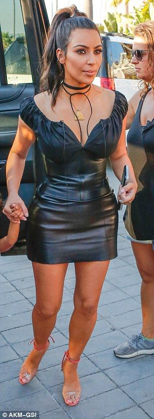 Who's the star? While Kim flaunted her newly trim figure after finally hitting her goal of...