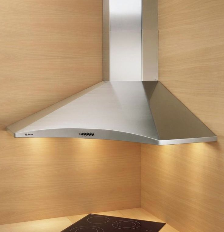 Corner Cooker hood Hydra Our stainless steel corner chimney