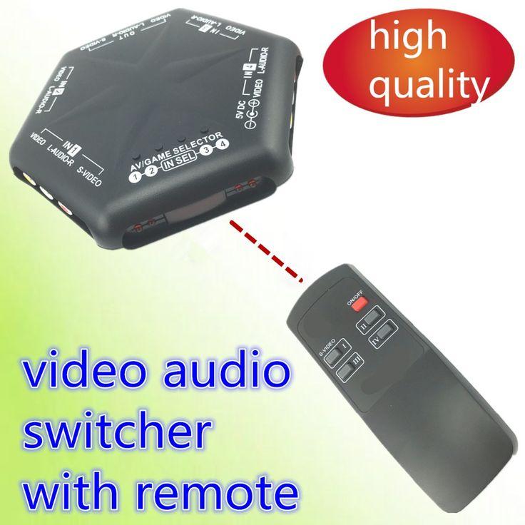 1 pcs AV SWITCHER AV commutateur 4 voies bonne qualité Convertisseur vidéo audio sélecteur pour TV AV666 avec à distance s vidéo