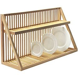 Dishrack above sink for keeping dishes that we use the most. My thinking is that is we have less dishes then we have less washing. So each of us will have one plate, one bowl, one cup, and silverware. Really excited about this!