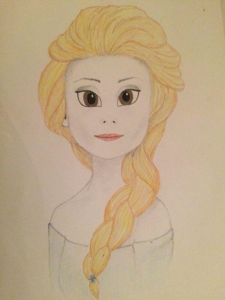 My friends daughter as Elsa #sketcing #pencil #frozen
