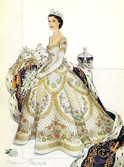 The Royal Order of Sartorial Splendor: The Queen's Coronation Gown