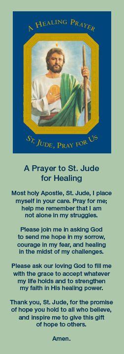 A Prayer to Saint Jude for Healing