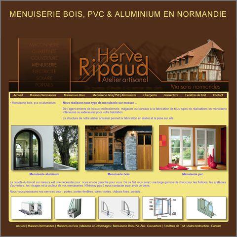 cool menuiserie bois pvc et aluminium en normandie luatelier artisanal herv ripaud ralise with. Black Bedroom Furniture Sets. Home Design Ideas