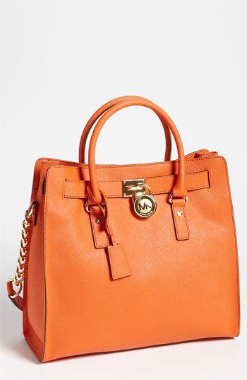 Orange Leather Tote | Michael Kors