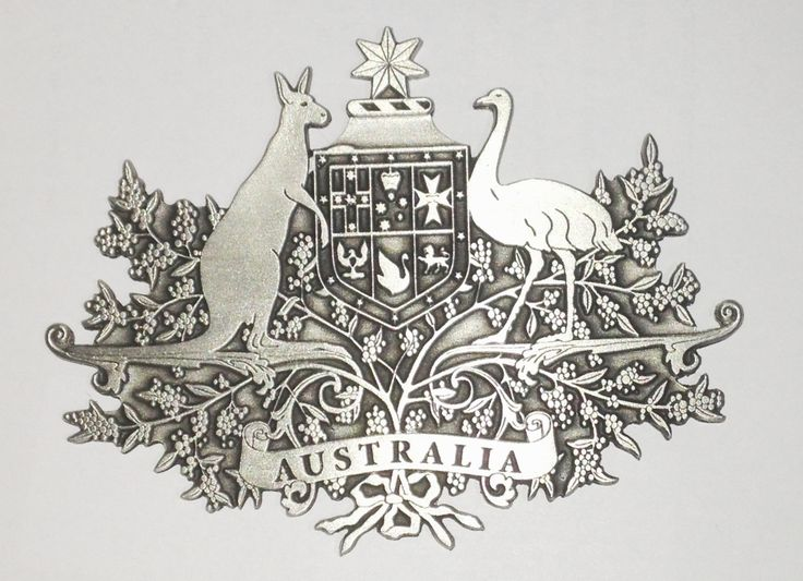 Defence Gifts - Australian Coat of Arms Metal Crest Pewter, $35.00 (http://www.defencegifts.com.au/australian-coat-of-arms-metal-crest-pewter/)