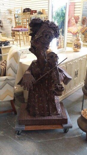 Crazy cool iron sculpture at Jasper Kane