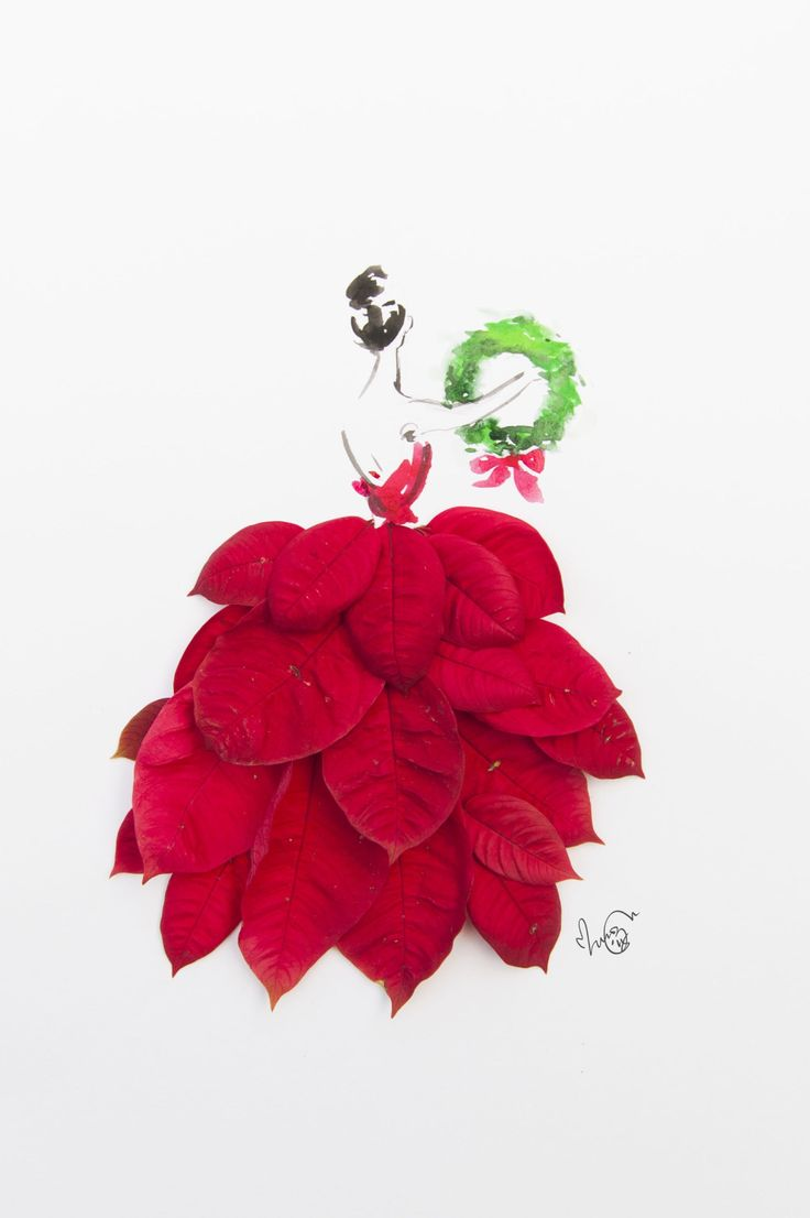 A bright red poinsettia dress for Christmas ❤️❤️