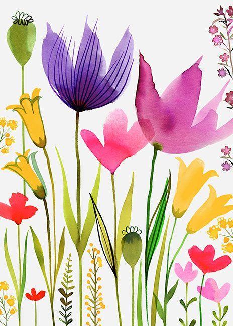 """bellasecretgarden: """"Margaret Berg Art: Spring Fling """""""