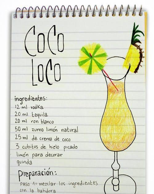 Cocteles: Coctel Coco Loco. Cocteles para locos zumbaos.