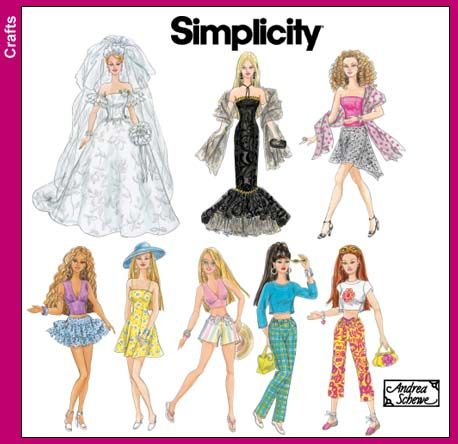 Free Barbie sewing patterns for 10 outfits for any fashion doll