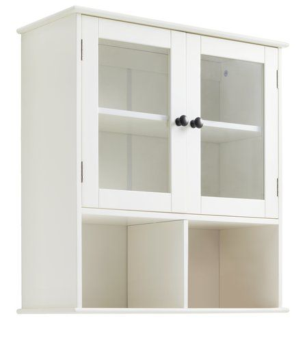 Wandkastje EGEBY 2 glasdeuren wit | JYSK