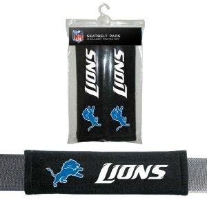 Detroit Lions Seat Belt Pads Velour