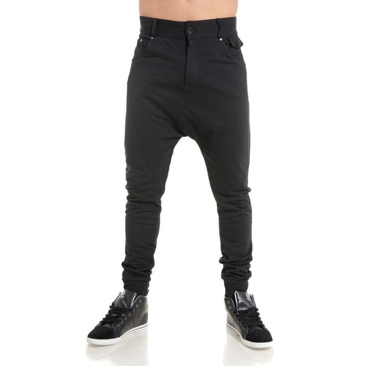 Pantalon sarouel noir homme fashion
